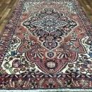 Vintage Handmade Kashan Red Wool Oriental Rug 6'1 x 9'8