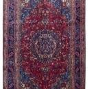Vintage Handmade Mashad Blue Wool Oriental Rug 6'3 x 9'3