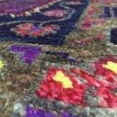 Handmade Vintage Persian Hamadan Blue & Purple Oriental Runner 5'2 x 9'4