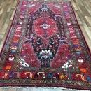 Handmade Vintage Persian Hamadan Red & Black Oriental Runner 5'4 x 9'9