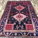 Handmade Vintage Persian Hamadan Red & Black Oriental Runner 5'1 x 8'