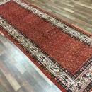 Handmade Antique Hamadan Red Wool Runner Rug 3'6 x 10'8