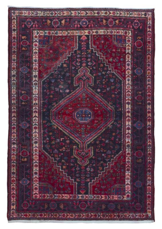 Handmade Antique Persian Hamadan Oriental Area Rug 4'9 x 7'2