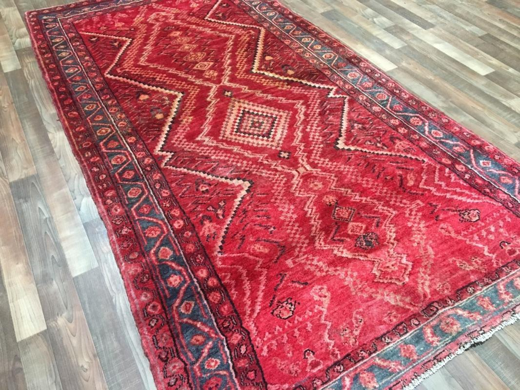 Handmade Antique Persian Hamadan Oriental Area Rug 4'7 x 9'