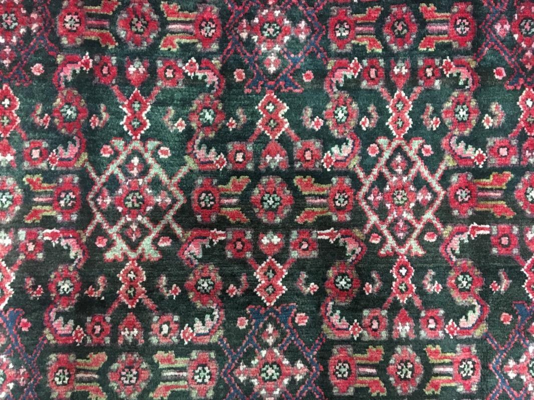 Handmade Antique Persian Hamadan Oriental Runner Rug 4'3 x 9'10