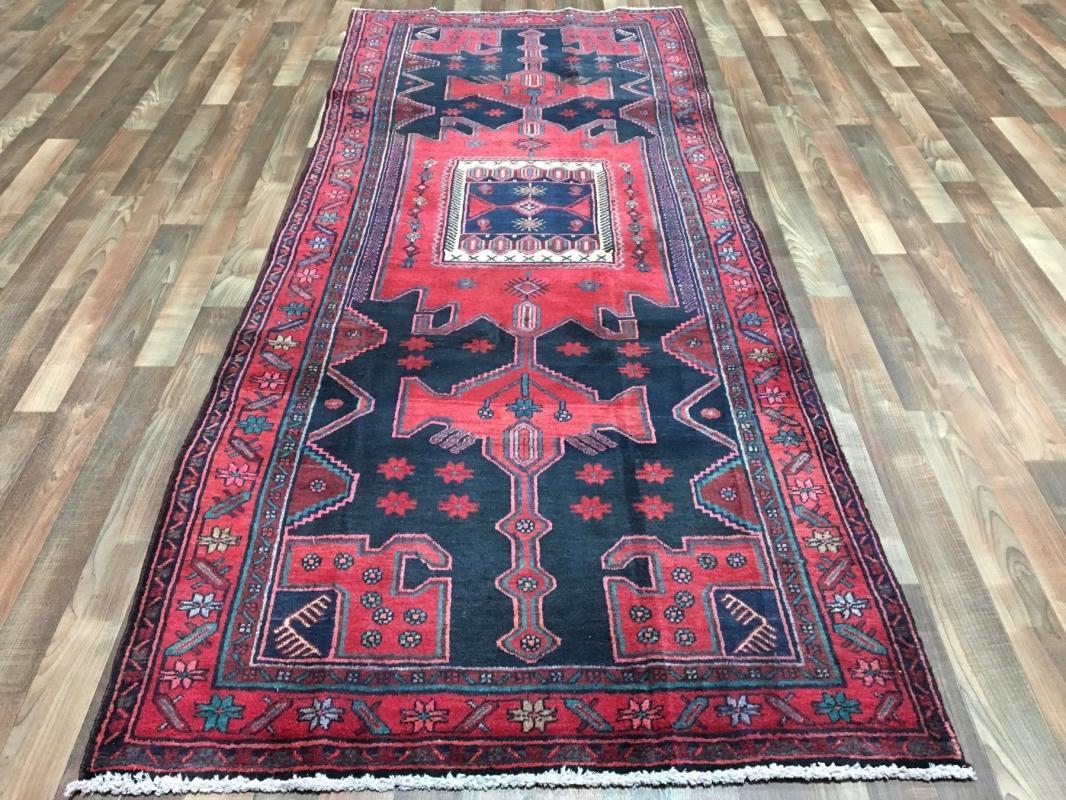 Vintage Handmade Persian Hamadan Oriental Area Rug 4' x 7'10