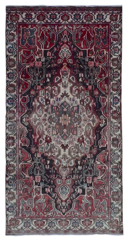 Vintage Handmade Persian Hamadan Oriental Runner Rug 4'11 x 9'4
