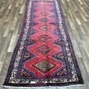 Antique Handmade Persian Hamadan Oriental Runner Rug 3'3 x 9'8