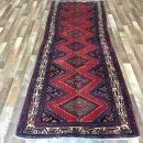 Vintage Handmade Persian Hamadan Oriental Runner Rug 3'3 x 9'8