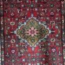 Handmade Antique Persian Hamadan Red Oriental Runner 3'8 x 10'10