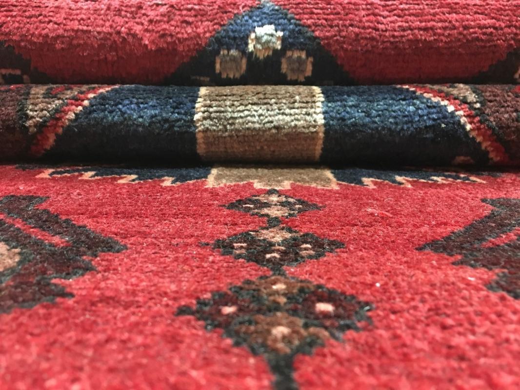 Handmade Antique Persian Hamadan Red Oriental Runner 3'1 x 9'8