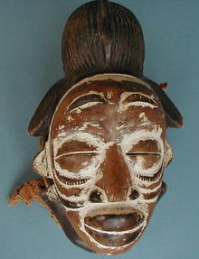 TRIBAL ART PUNU MASK