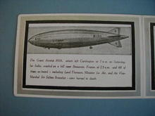 R101 airship memorial card