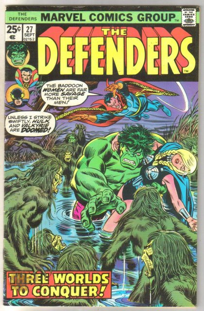 Defenders #27 comic book very good 4.0
