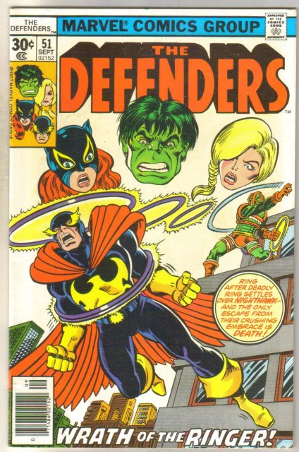 Defenders #51 comic book near mint 9.4