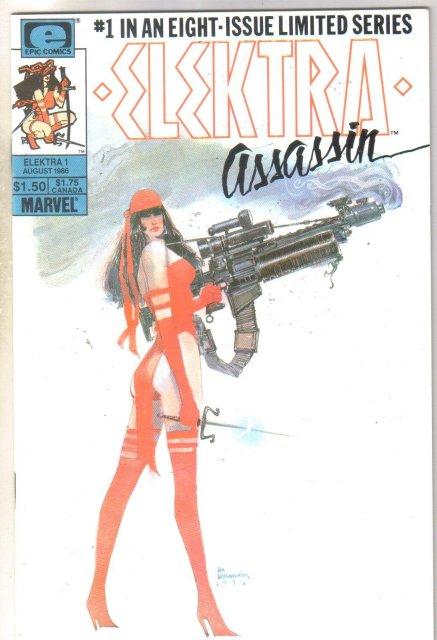 Elektra Assassin #1 comic book near mint 9.4