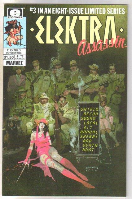 Elektra Assassin #3 comic book near mint 9.4