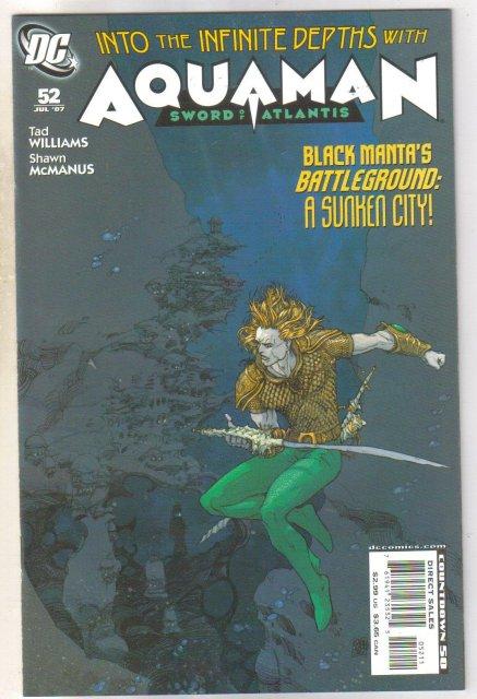 Aquaman #52 comic book near mint 9.4