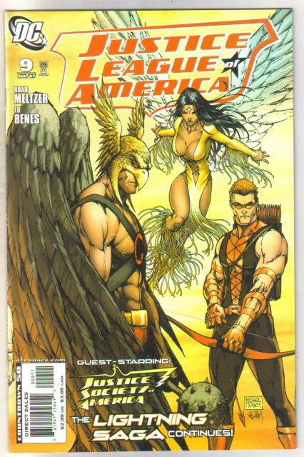 Justice League of America #9 comic book near mint 9.4