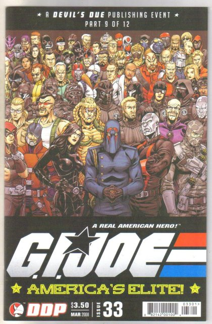 G.I. Joe America's Elite #33 comic book mint 9.8