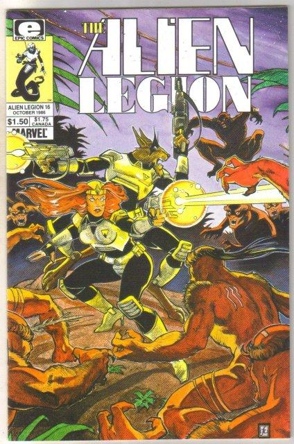 Alien Legion #16 comic book mint 9.8