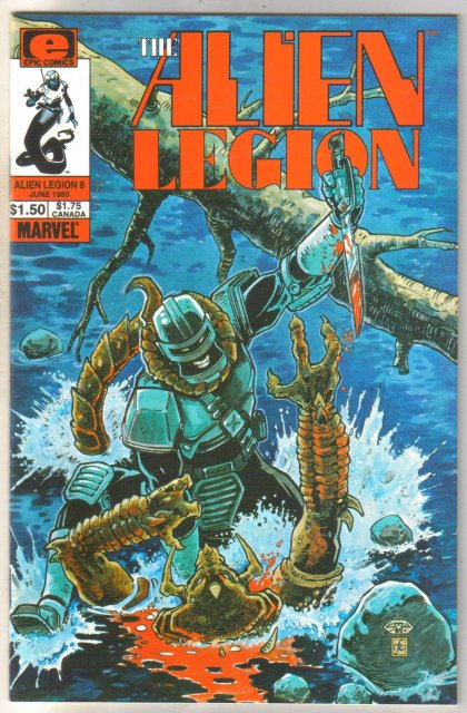 Alien Legion volume 2 #6 comic book near mint 9.4