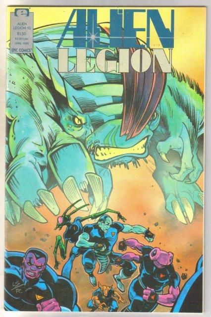 Alien Legion volume 2 #10 comic book near mint 9.4
