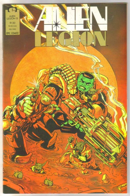 Alien Legion volume 2 #15 comic book near mint 9.4