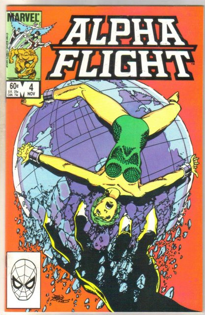 Alpha Flight #4 comic book near mint 9.4