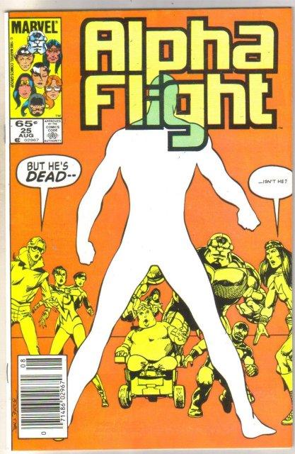 Alpha Flight #25 comic book near mint 9.4