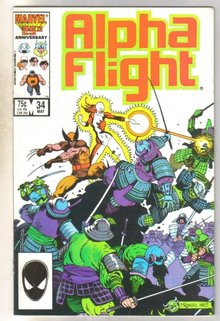 Alpha Flight #34 comic book mint 9.8