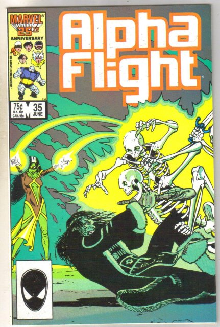Alpha Flight #35 comic book mint 9.8