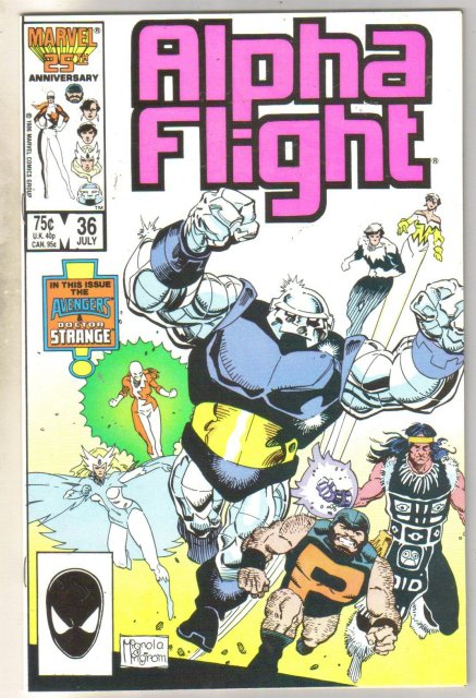 Alpha Flight #36 comic book mint 9.8