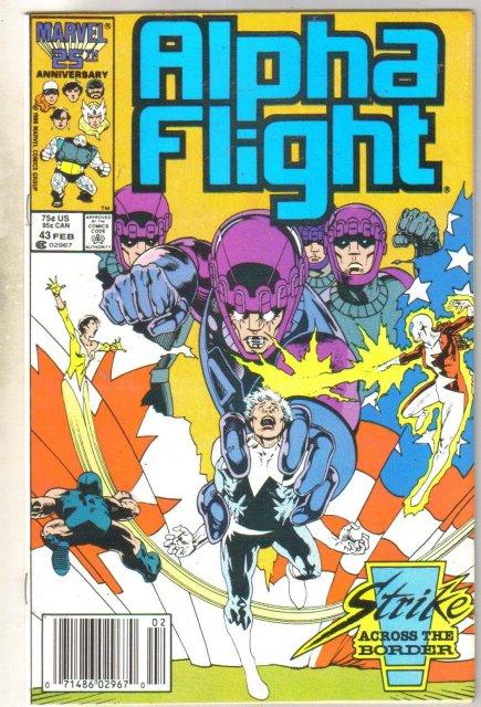 Alpha Flight #43 comic book mint 9.8