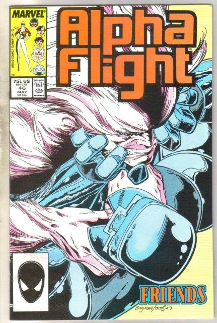 Alpha Flight #46 comic book very fine 8.0