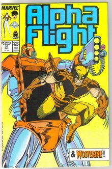 Alpha Flight #53 comic book near mint 9.4
