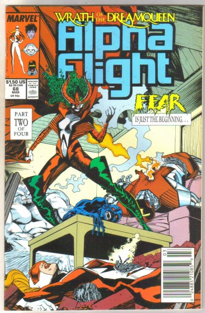 Alpha Flight #68 comic book near mint 9.4