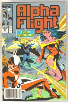 Alpha Flight #72 comic book near mint 9.4
