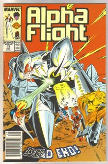 Alpha Flight #73 comic book near mint 9.4