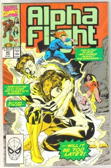 Alpha Flight #85 comic book near mint 9.4