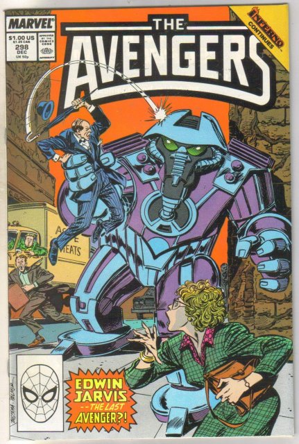 The Avengers #298 comic book near mint 9.4