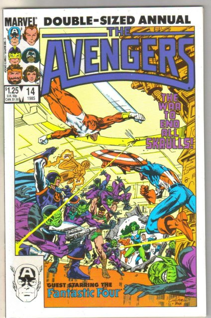 The Avengers Annual #14 comic book mint 9.8