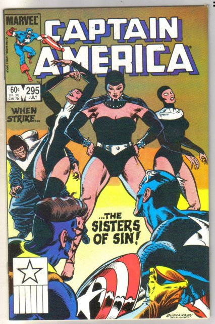 Captain America #295 comic book near mint 9.4