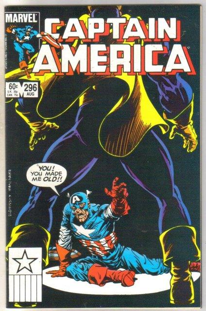 Captain America #296 comic book near mint 9.4