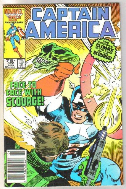 Captain America #320 comic book near mint 9.4