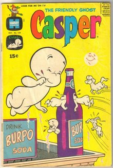 The Friendly Ghost Casper #134 comic book very good 4.0