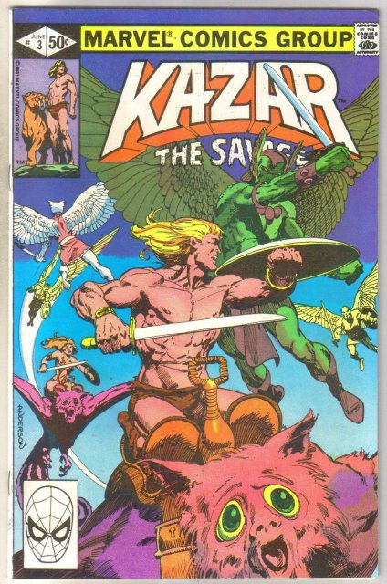Kazar The Savage #3 comic book mint 9.8