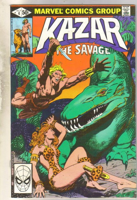 Kazar The Savage #4 comic book mint 9.8