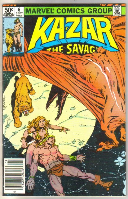 Kazar The Savage #6 comic book mint 9.8