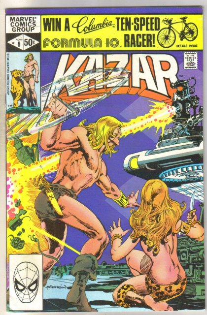 Kazar The Savage #8 comic book near mint 9.4